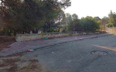 FOTODENÚNCIA | Rastre d'un botellot al carrer Escultor Vilanova