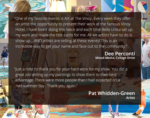 Artists Testimonials about Art at The Vinoy