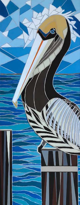 Brown Pelican | Acrylic, 2019