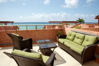 Rooftop terrace with view to Cozumel