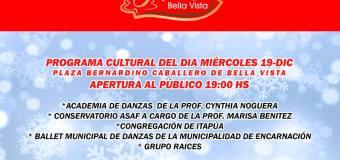 """PROGRAMA PARA HOY MIÉRCOLES 19-12 DE """"NAVIDAD EN BELLA VISTA"""""""