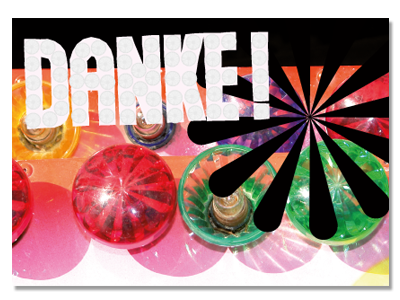 "Postcard ""Danke!"" (Thank you)"