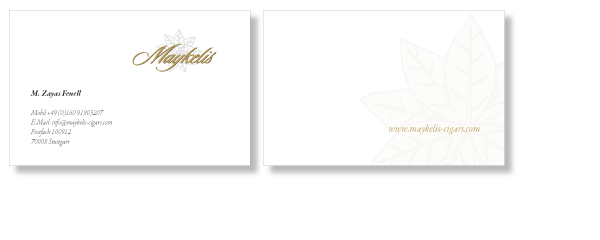 business cards for Maykelis cugars
