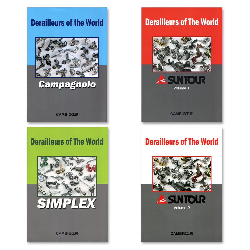 """Derailleurs of the World"" books by Hideki Sasaki"