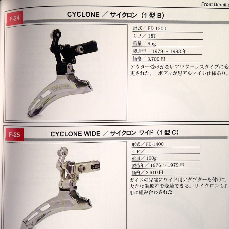 Suntour Cyclone and cyclone wide front derailleurs