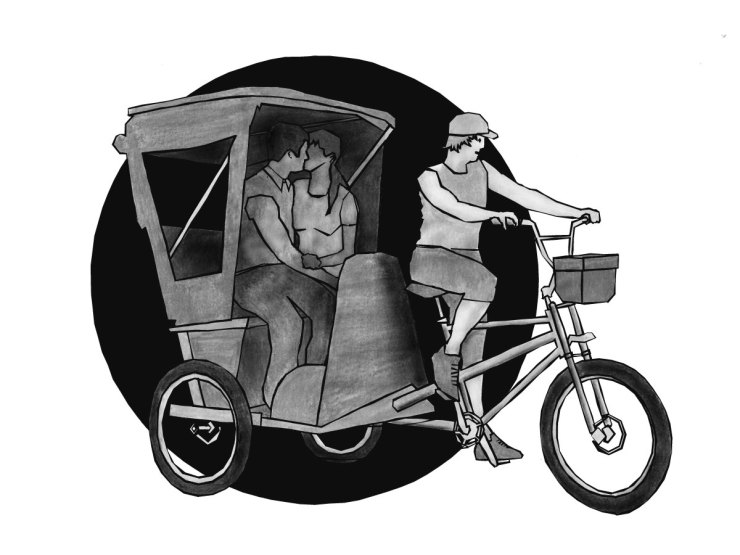 "Illustration for the book ""Cargo bike boom"" - Love Rickshaw"