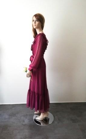 Robe longue en plumetis