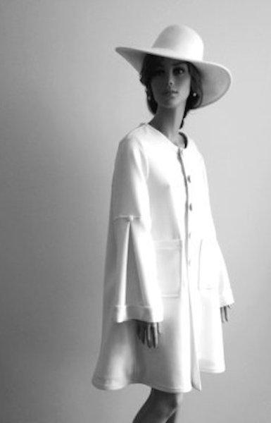 Manteau en Lainage Blanc