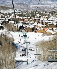 Sterling Express Chairlift and Silver Lake Village