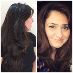 Aamina before & after