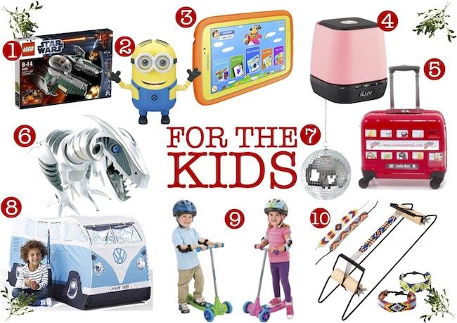 Christmas Gift List kids