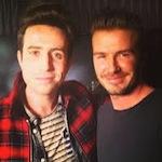 David Beckham and Nick Grimshaw