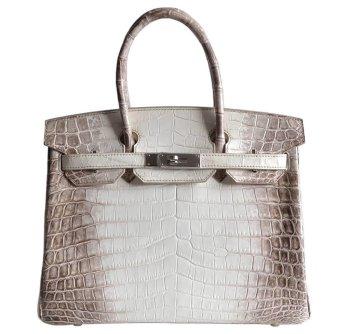 Hermes Birkin 30 Himalayan Crocodile Bag