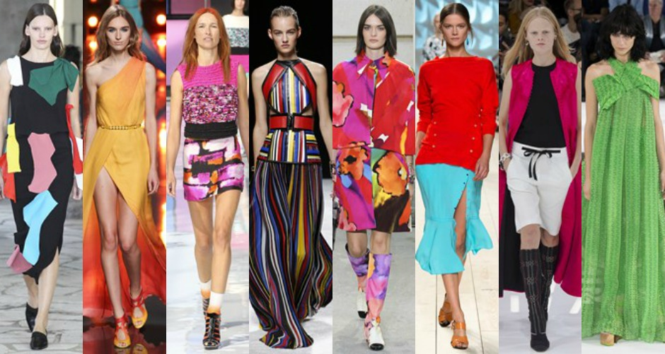 Paris Fashion Week Trends SS15 colour burst