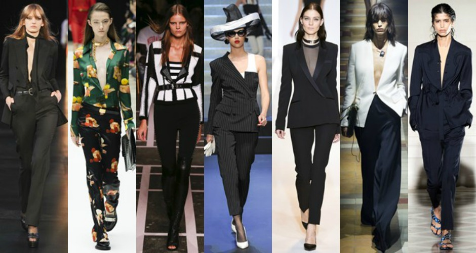 Paris Fashion Week Trends SS15 power suits