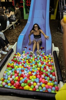 Slide into a ball pool at Last Days of Shoreditch Riviera