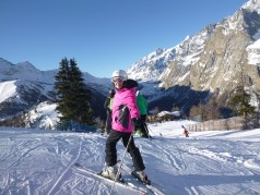 Belle About Town's Gill hitting the Italian Alps slopes in Cormayeur