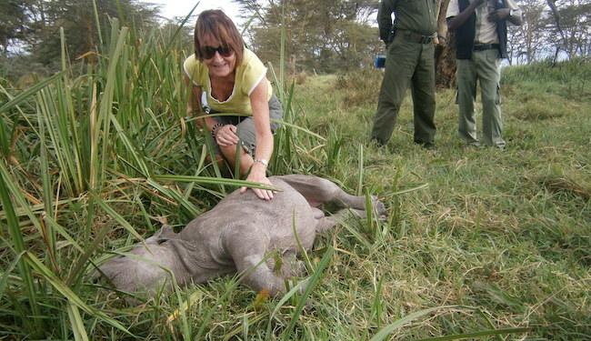 Gill with baby Rhino