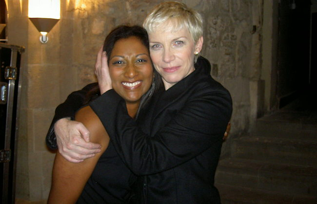 Diane Dunkley and Annie Lennox