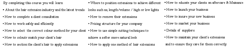 About the hair extension course