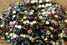 Perles multicolores ou couleurs individuelles, quelques grandeurs disponibles