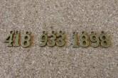 Série de chiffres de 0 à 9, un exemplaire de chaque, 15x7mm environ variable selonl e chifre