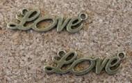 Love bronze, 33x10mm