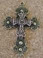 Croix double, croix de bronze superposée dune croix rosée, 75x52x8mm haut