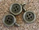 Petit bouton bronze vieilli, diamètre de 8mm excluant l'anneau, emballage de 10 pour 2.50$