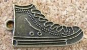 Espadrilles bronze vieilli, 25x15mm excluant l'anneau
