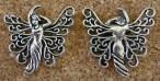 Fée papillon argentée, 26x26mm