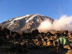Valérie Fignon au Kilimandjaro
