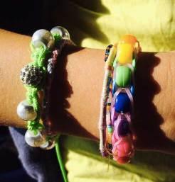 Bracelet élastiques à perles de couleur
