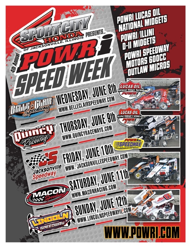 2016 POWRi SPEED Week Flyer
