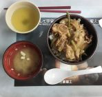 Some kind of pork donburi, I really didn't like it, too much fat in the meat