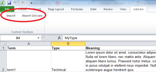 excel buttons