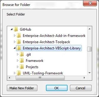 Select scripts folder