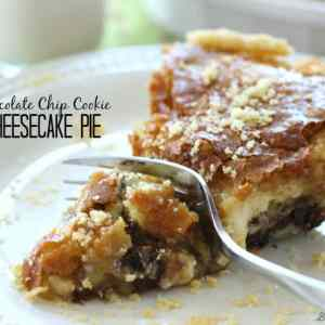 Chocolate Chip Cookie Cheesecake Pie | Belle of the Kitchen