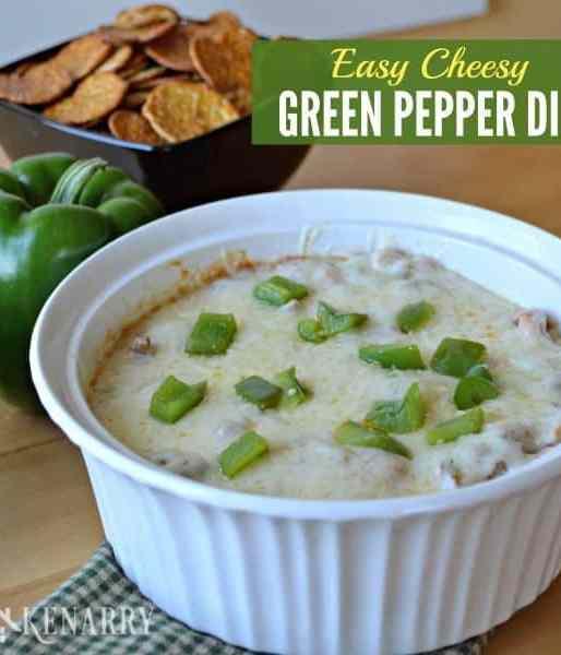 Easy Cheesy Green Pepper Dip