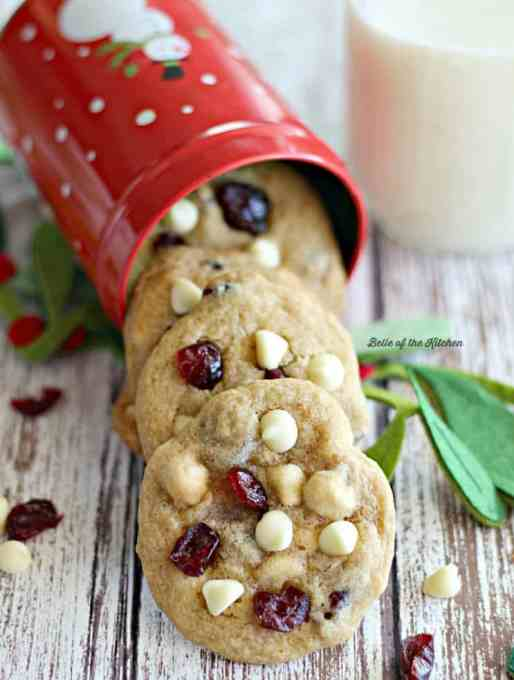 Cranberry White Chocolate Chip Cookies