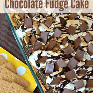 Yum! This recipe for S'mores Chocolate Fudge Cake with marshmallow and graham cracker is the next best thing to sitting by a campfire in the summer. Shared by Kenarry: Ideas for the Home on Belle of the Kitchen.