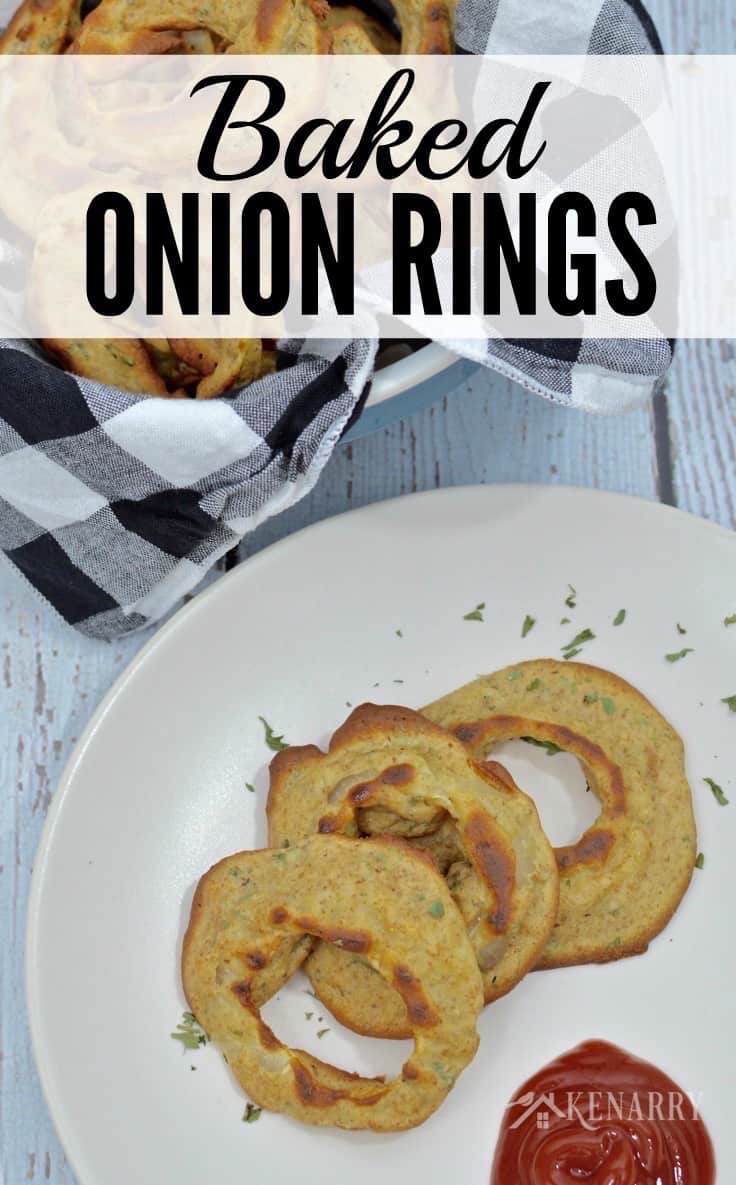 I love onion rings and can't wait to try this healthier recipe for homemade baked onion rings. It's a delicious breaded appetizer idea for a party or game day.