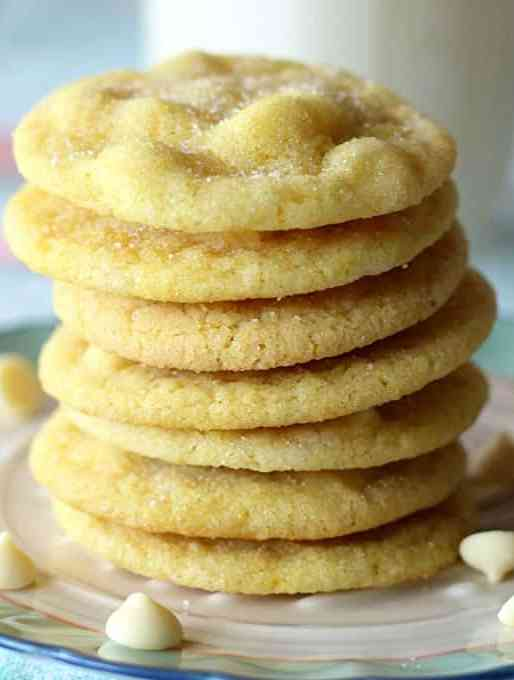 White Chocolate Lemon Sugar Cookies