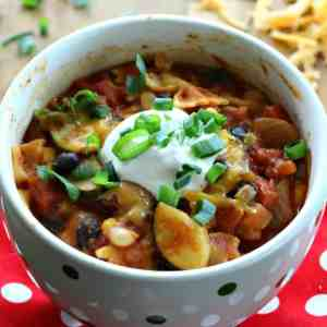 This Vegetarian Chili is ready in 30 minutes and will blow you away with flavor! It's delicious and comes together in one pot for an easy, healthy dinner.
