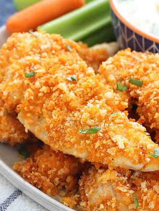 Baked Buffalo Chicken Fingers Recipe