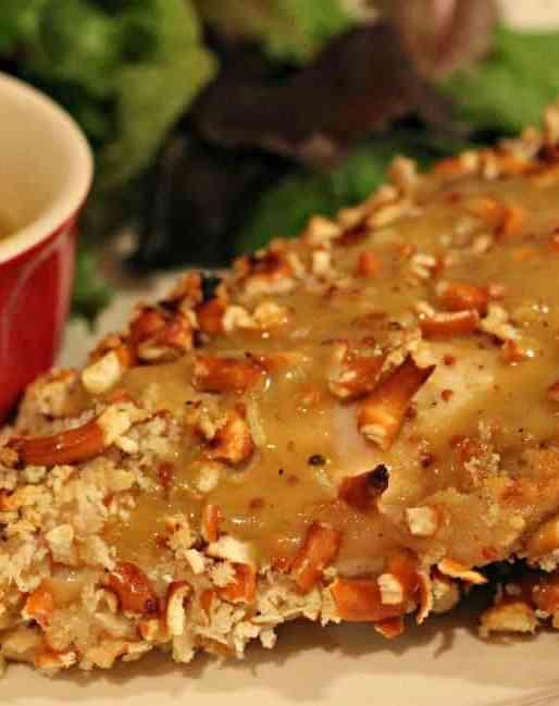 Honey Dijon Pretzel Chicken Recipe