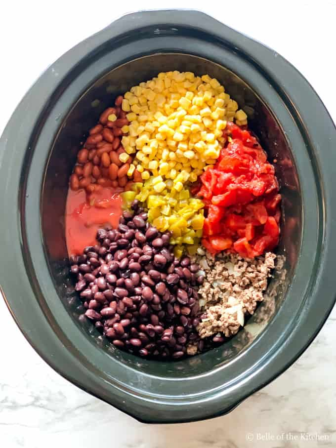 ingredients for slow cooker taco soup