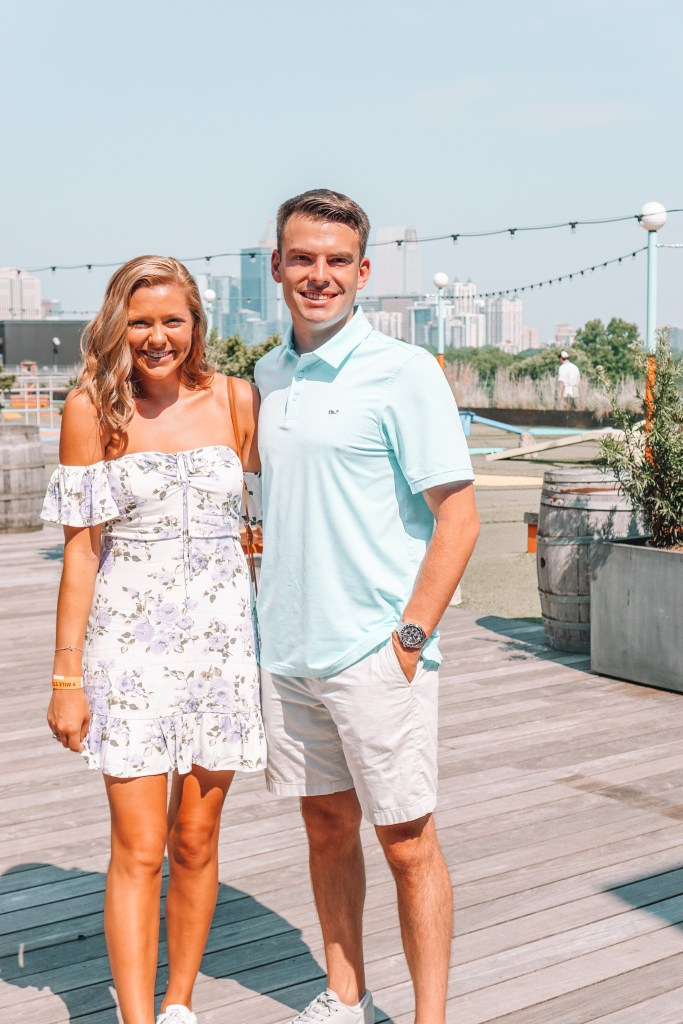Atlanta Valentine's Day or Galentine's Day date idea at the roof of Ponce City Market