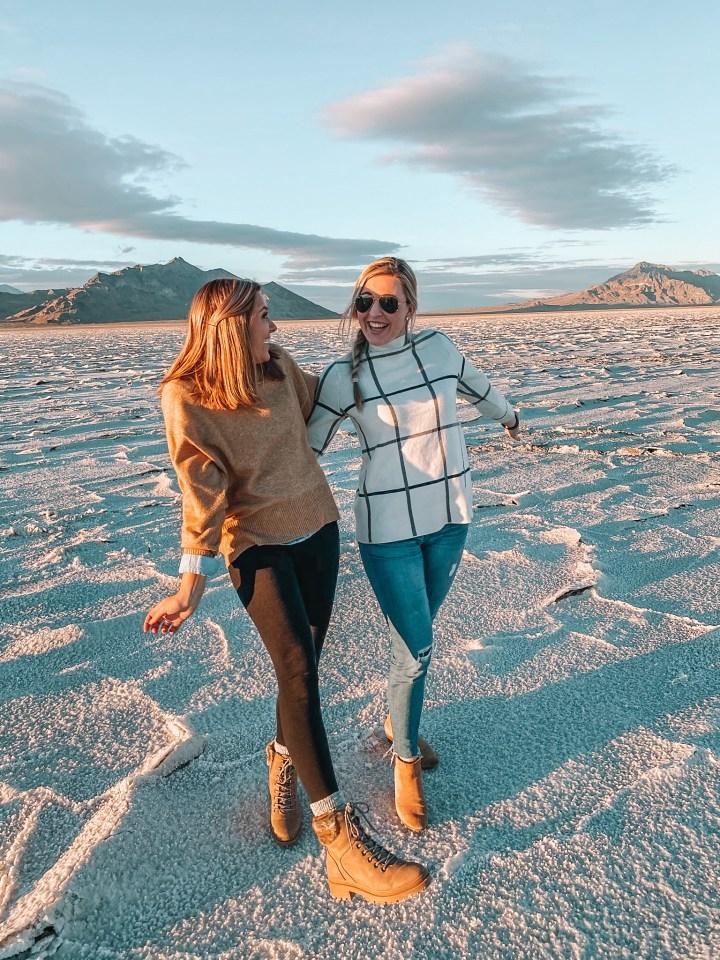 salt flats at a girl's trip to Salt Lake City, Utah