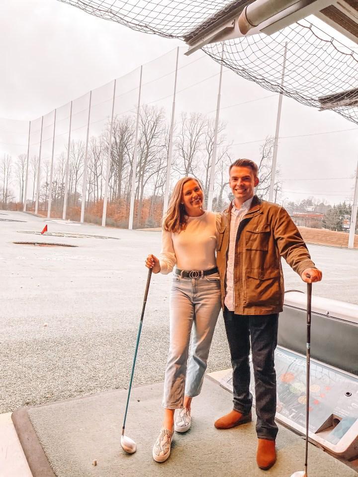 Atlanta Valentine's Day or Galentine's Day date idea at top golf